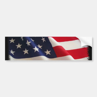 4th of July American Flag Merchandise Car Bumper Sticker