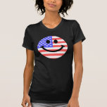 4th of July American Flag Smiley face T-shirt