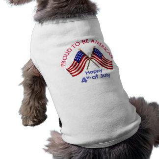 4th of July and Patriotic Gifts and Tees Sleeveless Dog Shirt