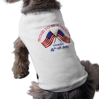 4th of July and Patriotic Gifts and Tees Sleeveless Dog Shirt