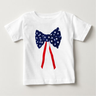4th of July Baby Bow Shirt