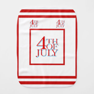 4th of July - Baby Burp Cloths
