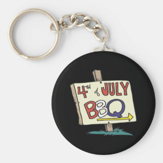4th Of July Barbeque Keychain