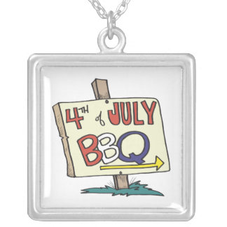 4th Of July Barbeque Pendant