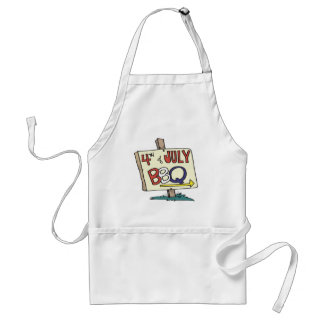 4th Of July Barbeque Standard Apron