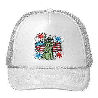 """4th of July Baseball Hat: """"Lady Liberty"""""""