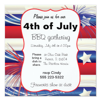 4th of July BBQ Card