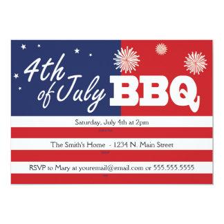 4th of July BBQ Invitations