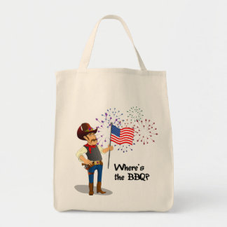 4th of July BBQ Tote Bag