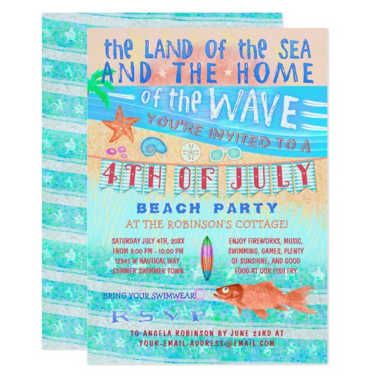 4th of July Beach or Pool Party |