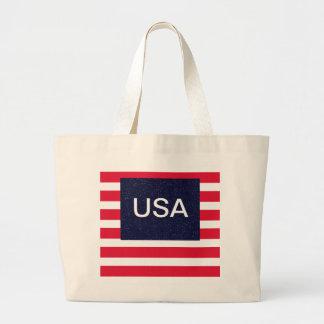 4th of July Beach Picnic Bag Patriotic USA Jumbo Tote Bag