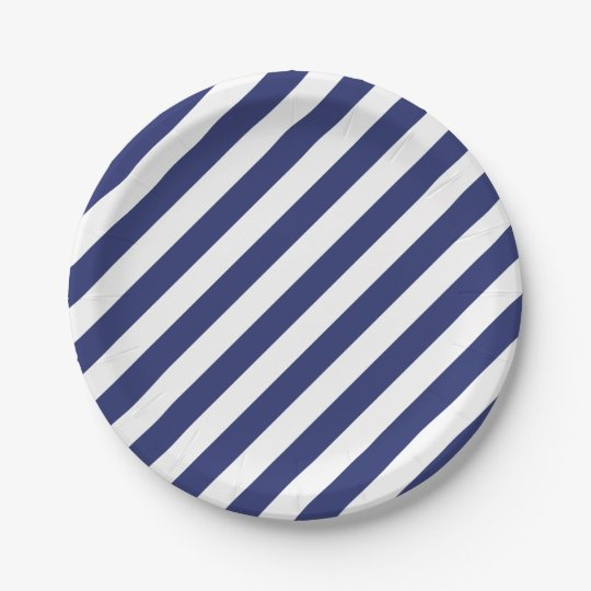 4th Of July Blue White Stripes Party Paper