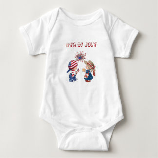 4th Of July Boy and Girl Baby Shirt