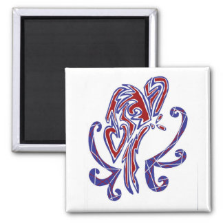 4th of July Butterfly Square Magnet