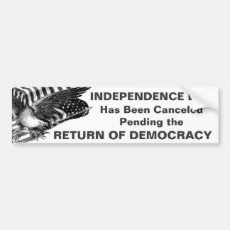 4th of July Canceled Car Bumper Sticker