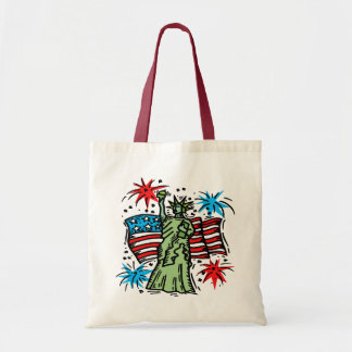 4th of July Canvas Bag: Lady Liberty