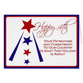 4th of July Card for Our Troops