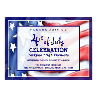 4th of July Celebration Invitation