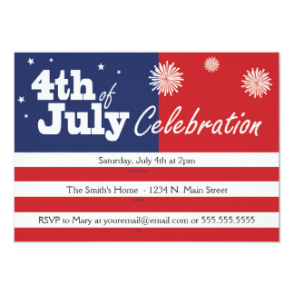 4th of July Celebration Invitations