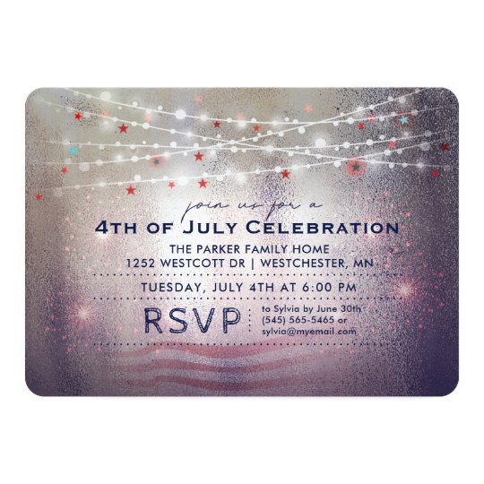 4th of July Celebration Lights & Sparkles Invite