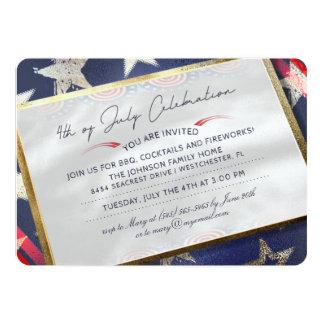 4th of July Celebration Party Elegant Invitation