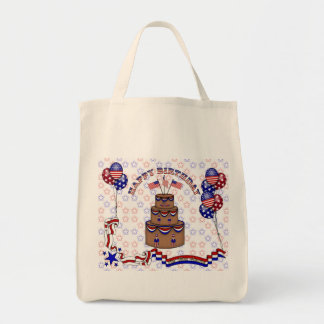 4th of July Celebration Grocery Tote Bag