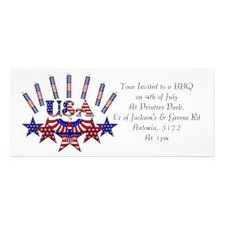 4th of July Crackers Custom Invitation