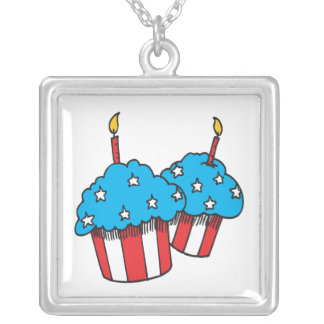 4th Of July Cupcakes Pendants