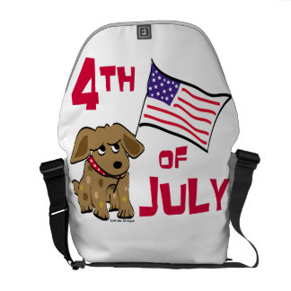 4th of July Dog Design Courier Bags