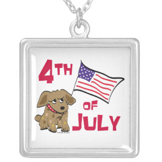 4th of July Dog Design Necklace