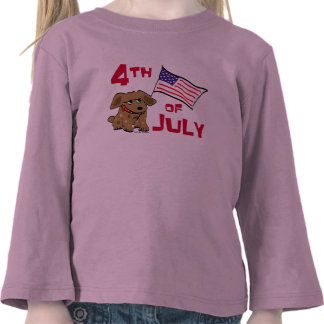 4th of July Dog Design Tees