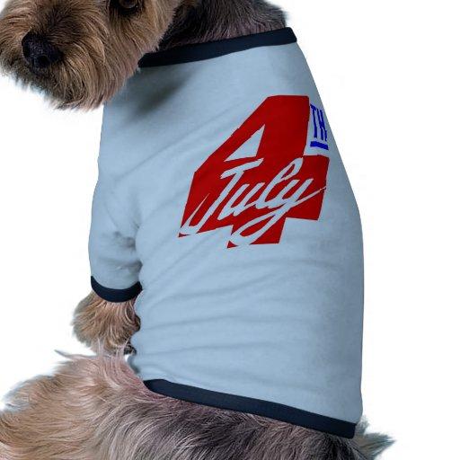 4th Of July Pet Tshirt