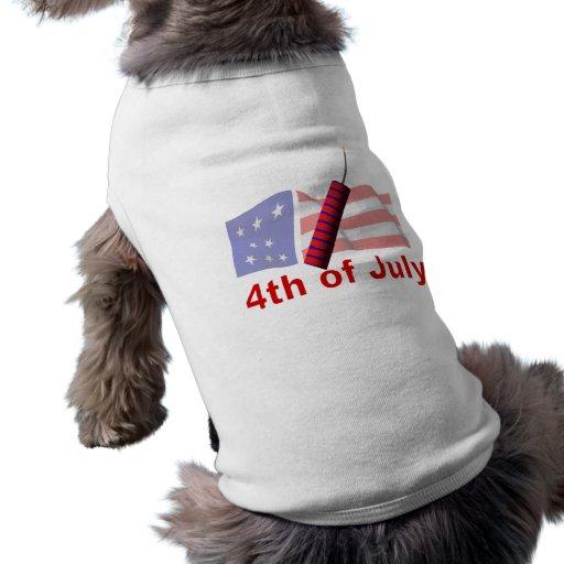 4th Of July Dog Tee