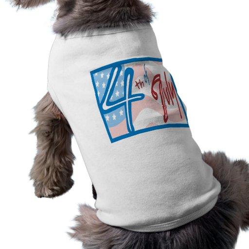 4th Of July Doggie Tshirt