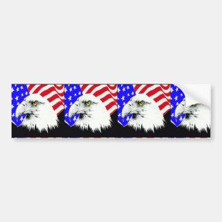 4th of July Eagle Bumper Sticker