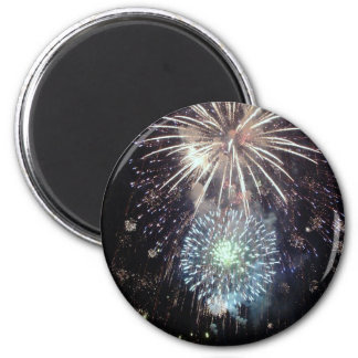 4th of July Fireworks 6 Cm Round Magnet