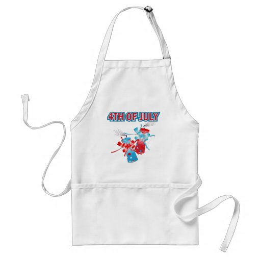 4TH OF JULY FIREWORKS APRONS