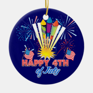 4th of July Fireworks Fun Christmas Ornament