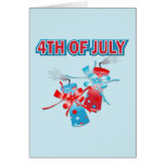 4TH OF JULY FIREWORKS GREETING CARD