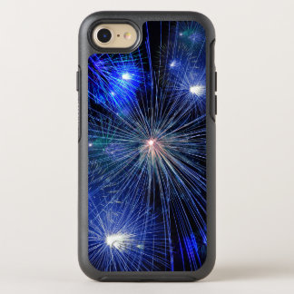 4th of July Fireworks in Blue Hue Happy 4th OtterBox Symmetry iPhone 7 Case