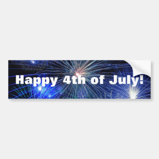 4th of July Fireworks in Blue Independence Day Bumper Sticker
