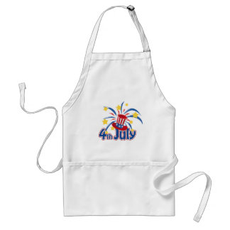 4th of July Fireworks Independence Day Standard Apron