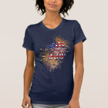 4th of July Fireworks Ladies T-Shirt