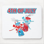 4TH OF JULY FIREWORKS MOUSE MATS
