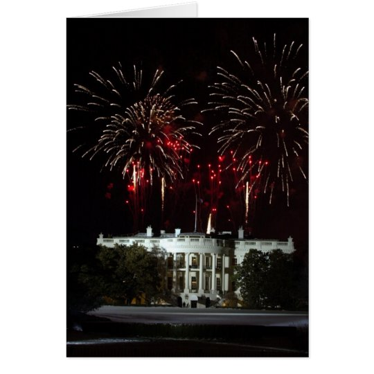 4th of July Fireworks over the White House Greeting Card