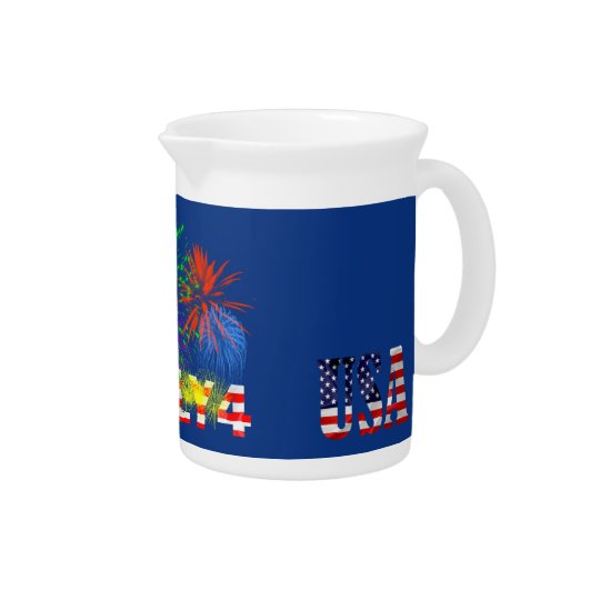 4th of July Fireworks Pitcher
