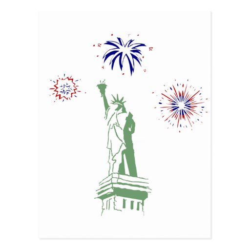 4th of July Fireworks Post Cards