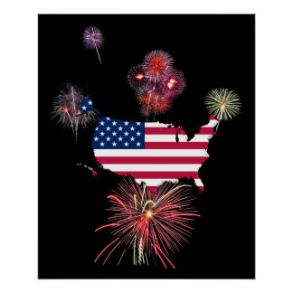 4th of July Fireworks Print