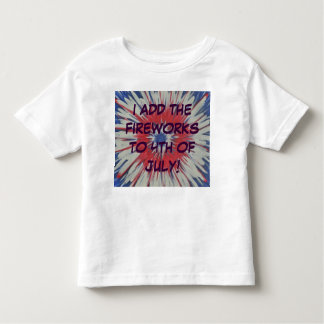 4th of July fireworks red white blue toddler shirt