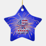 4th of July Fireworks Star Ornament